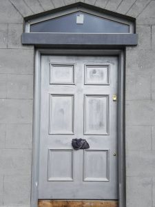 custom designed simple painted installed classical doors galway
