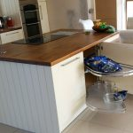 dkb modern island storage kitchen design galway ireland