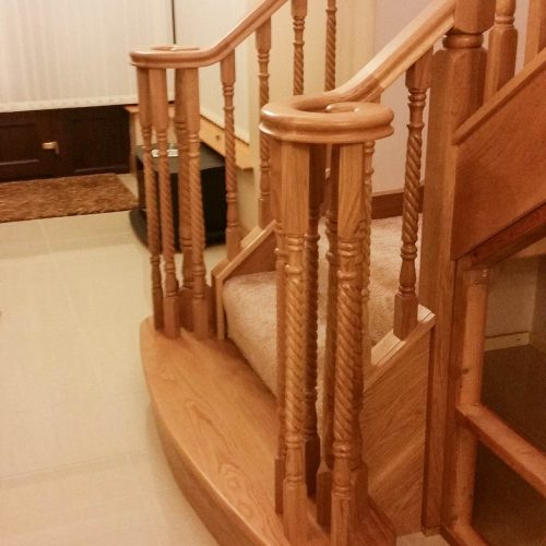 timber simple stair design manufacturing and installation barnaderg tuam co. galway