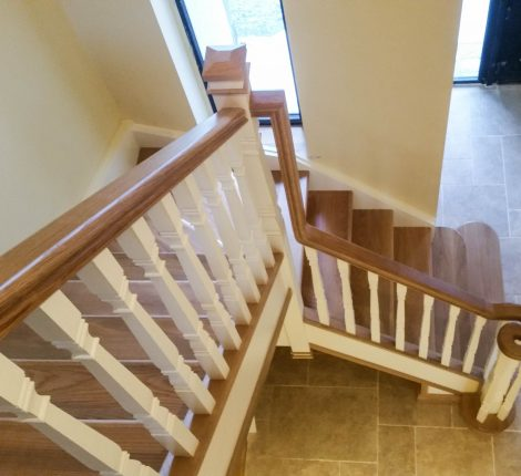 dkb carpentry services painted staircase tuam galway ireland
